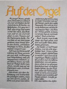 Organist Friedel ruft