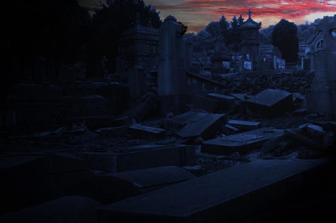 Friedhof-Verviers-am-späten