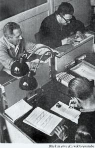 Die Jungfrauenhasser bei der Arbeit - (aus: Graphisches ABC 1964)