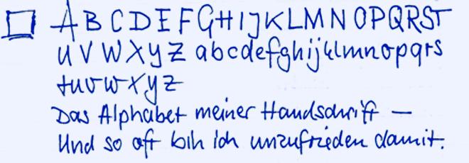 ABC meiner Handschrift