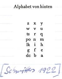 Alphabet Schwitters