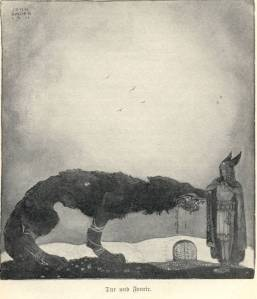 Tyr_and_Fenrir-John_Bauer