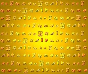 Statt Kreuzworträtsel hier ein Bild von sinnlosen Symbolen, die ich mal erfunden habe  - Grafik: Trithemius