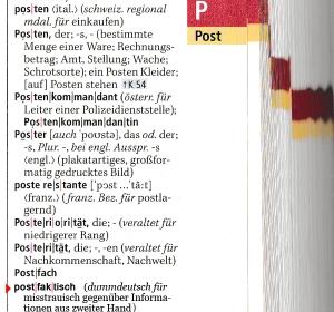 postfaktisch im Duden - Scan und Schriftmontage JVDL (größer: Bitte klicken)