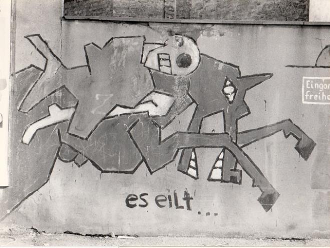 Graffito von Klaus Paier - Foto: Trithemius Archiv