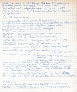 handschriftlicher Skriptentwurf (Auszug)