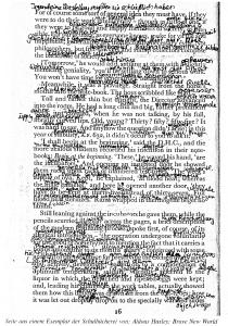 """Interlinearversion in einem Exemplar von """"Brave New World"""" aus dem Bestand eines Aachener Gymnasiums"""