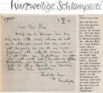 Franz Kafkas Brief - zum Betrachten bitte anklicken